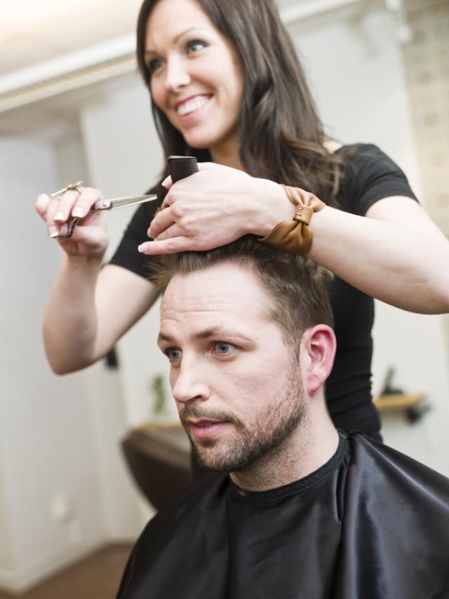 Getting A Haircut 13